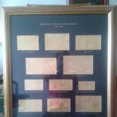 Reproducciones billetes y monedas: HISTORIA DE LA PESETA EN PAPEL MONEDA 1874-1985 LAMINAS BILLETES ORO. Lote 42962393