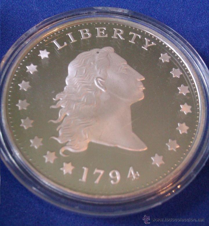 MONEDA CONMEMORATIVA DE 1 DOLLAR PLATA ESTADOS UNIDOS LIBERTY 1794 (Numismática - Reproducciones)