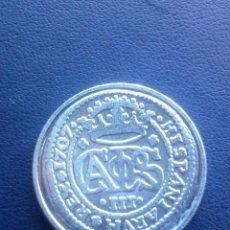 Reproducciones billetes y monedas: MONEDA DE CARLOS III2 REALES REPRODUCCION. Lote 43122650