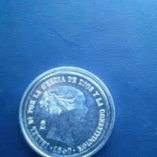 Reproducciones billetes y monedas: MONEDA DE ISABEL II 20 REALES . Lote 43122877