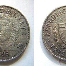 Reproducciones billetes y monedas: REPRODUCCION TRES PESOS DE CUBA 1995. Lote 43164266