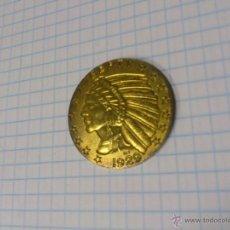 Reproducciones billetes y monedas: MONEDA 5 DOLARES 1929 INDIO DEL AGUILA. COPIA, COPY. Lote 43750909