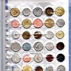 Reproducciones billetes y monedas: REPLICAS, 40 MONEDAS NACIONALES DE PAISES DE EUROPA ANTES DEL EURO EKL COLECCION COMPLETA CON LIBRO. Lote 96698102