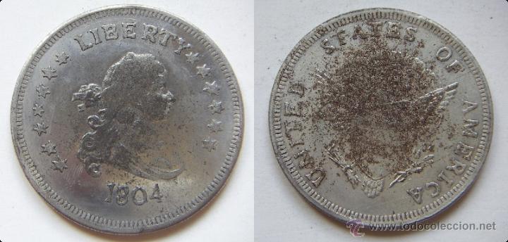 ESTADOS UNIDOS LIBERTY 1804 REPRODUCCION (Numismática - Reproducciones)