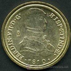 Reproducciones billetes y monedas: 8 ESCUDOS ORO - LIMA 1810 ( FERNANDO VII ) SC LEER DENTRO DESCRIPCION - Nº1. Lote 86232619