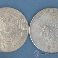 Reproducciones billetes y monedas: TAURO - TIGRE - MONEDAS DE LA SUERTE DE TU HOROSCOPO - CHINO Y OCCIDENTAL. Lote 132039018