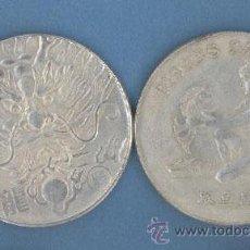 Reproducciones billetes y monedas: PISCIS - DRAGON - MONEDAS DE LA SUERTE DE TU HOROSCOPO - CHINO Y OCCIDENTAL. Lote 44959373
