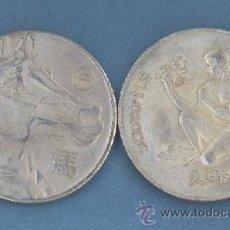 Reproducciones billetes y monedas: ESCORPIO - CABALLO - MONEDAS DE LA SUERTE DE TU HOROSCOPO - CHINO Y OCCIDENTAL. Lote 44959384