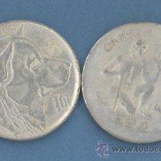 Reproducciones billetes y monedas: CANCER - PERRO - MONEDAS DE LA SUERTE DE TU HOROSCOPO - CHINO Y OCCIDENTAL. Lote 44959386