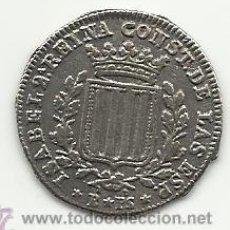 Reproducciones billetes y monedas: 1 PESETA DE ISABEL 2ª 1837 ESPAÑA REPRODUCCION. Lote 90038996