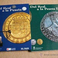 Reproducciones billetes y monedas: DEL REAL A LA PESETA. 80 MONEDAS DE LA REAL CASA DE LA MONEDA Y TIMBRE. . Lote 45297268