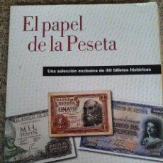 Reproducciones billetes y monedas: EL PAPEL DE LA PESETA I -- UNA SELECCION EXCLUSIVA DE 40 BILLETES HISTORICOS -- . Lote 45326522
