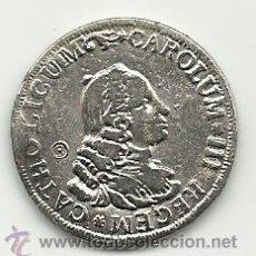 Reproducciones billetes y monedas: MONEDA CASA DE BORBON 2 REALES MEDALLA DE CARLOS III REPRODUCCION . Lote 45523268