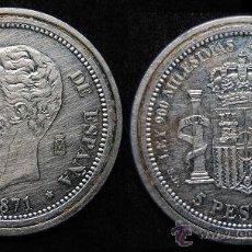 Reproducciones billetes y monedas: MONEDA REPRODUCCIÓN AMADEO I (R-6). Lote 46177016