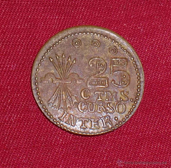 MONEDA DE 25 CENTIMOS DE TREBUJENA 1936 GUERRA CIVIL (Numismática - Reproducciones)