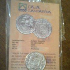 Reproducciones billetes y monedas: ESTADO ESPAÑOL - MONEDA 10 CENTIMOS 1940 - FACSIMIL EDIT. EL DIARIO MONTAÑÉS. Lote 46358733