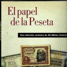 Reproducciones billetes y monedas: BILLETES REPRODUCCION: EL PAPEL DE LA PESETA-I, EL PAÍS 2002. Lote 47006089