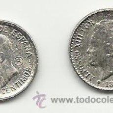 Reproducciones billetes y monedas: PAREJA DE MONEDAS DE 50 CENTIMOS ALFONSINAS REPRODUCCION. Lote 47930144