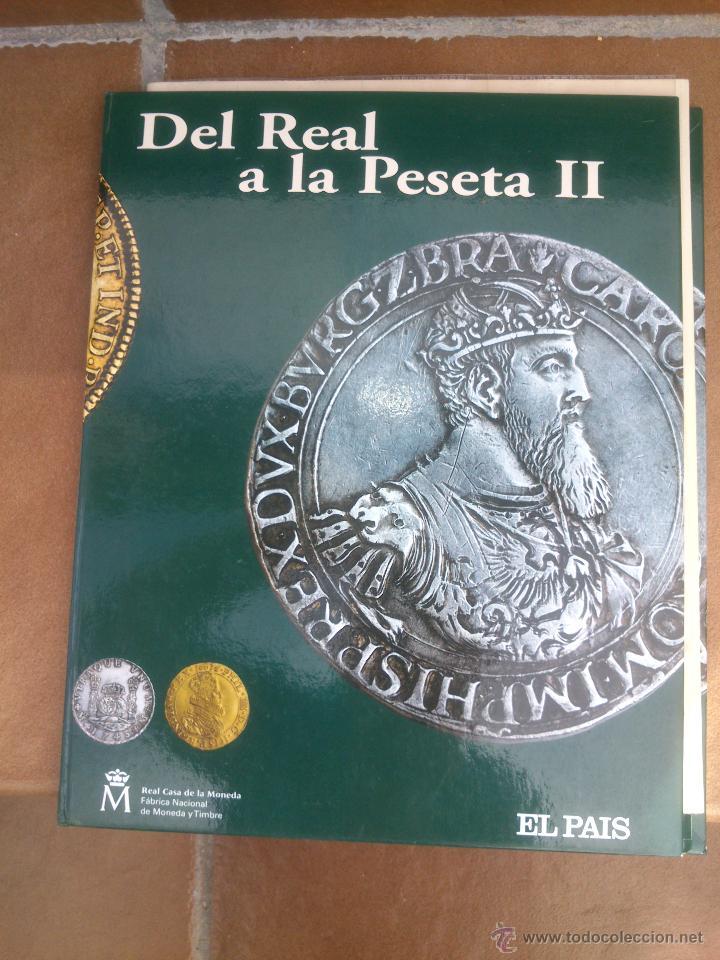 COLECCIÓN DEL REAL A LA PESETA, ÁLBUM II, DE LA F.N.M.T. 40 PIEZAS BAÑADAS DE ORO Y PLATA PUROS, (Numismática - Reproducciones)