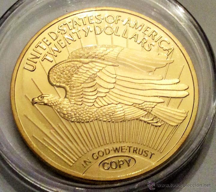 Reproducciones billetes y monedas: moneda conmemorativa liberty estados unidos réplica. - Foto 2 - 48676510