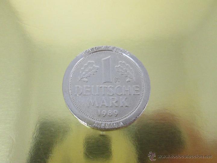 Reproducciones billetes y monedas: MONEDA-EUROPA-ALEMANIA-1 MARK 1989-POSIBLE DE COLECCION-BAÑO PLATA?-BUEN ESTADO-VER FOTOS. - Foto 4 - 49257781