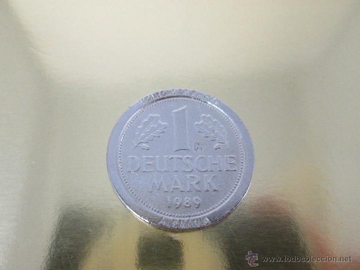 Reproducciones billetes y monedas: MONEDA-EUROPA-ALEMANIA-1 MARK 1989-POSIBLE DE COLECCION-BAÑO PLATA?-BUEN ESTADO-VER FOTOS. - Foto 5 - 49257781