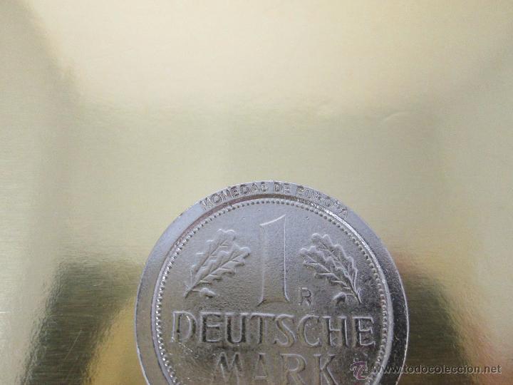 Reproducciones billetes y monedas: MONEDA-EUROPA-ALEMANIA-1 MARK 1989-POSIBLE DE COLECCION-BAÑO PLATA?-BUEN ESTADO-VER FOTOS. - Foto 6 - 49257781