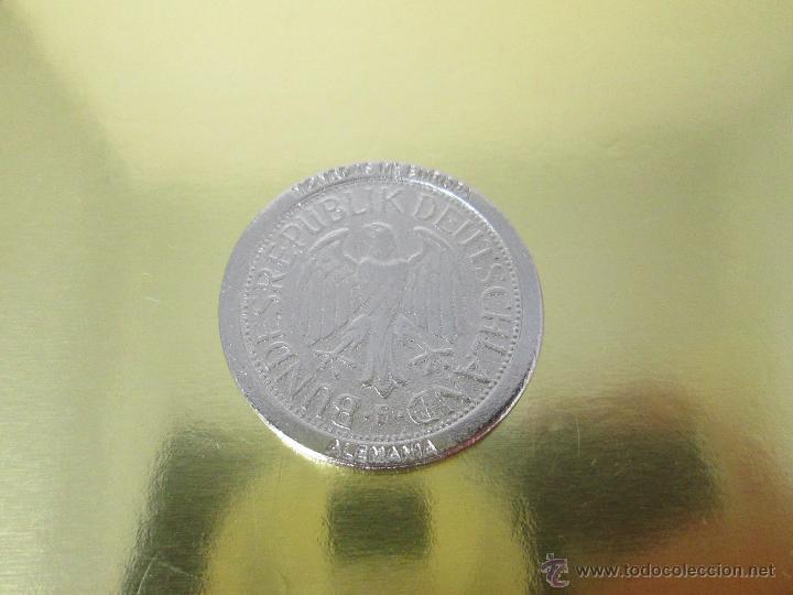 Reproducciones billetes y monedas: MONEDA-EUROPA-ALEMANIA-1 MARK 1989-POSIBLE DE COLECCION-BAÑO PLATA?-BUEN ESTADO-VER FOTOS. - Foto 7 - 49257781