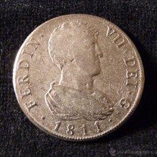 Reproduções notas e moedas: 34. MEDALLA NUMISMÁTICA FERNANDO VII VALENCIA. REAL DE A OCHO. METAL PLATEADO. REPRODUCCIÓN. Lote 49598186