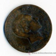 Reproducciones billetes y monedas: REPRODUCCION MONEDA ALFONSO XII - DIEZ CENTIMOS - 1879 - 3 CM DIAMETRO. Lote 49609001