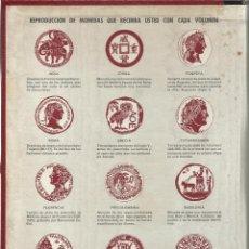 Reproducciones billetes y monedas: CARPETA ALBUM CON 10 MONEDAS ANTIGUAS TAMAÑO 33 MM VER FOTOS REPRODUCCIONES. Lote 51175707
