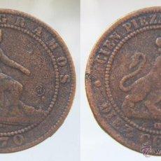 Reproducciones billetes y monedas: REPRODUCCION 10 CENTIMOS 1870. Lote 51387842