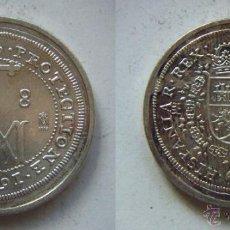 Reproduções notas e moedas: CARLOS II 1691 8 REALES REPRODUCCION DE LA FNMT BAÑO DE PLATA. Lote 51797083