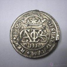 Reproducciones billetes y monedas: REAL DE PLATA DE 1709, REY CARLOS III EL PRETENDIENTE, REPRODUCCIÓN. Lote 52404621
