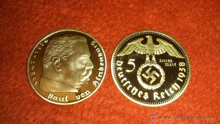 Moneda Oro Alemania Nazi 5 Reichsmark 1938 Paul Comprar