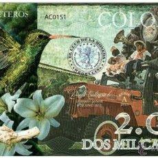 Reproducciones billetes y monedas: 2000 CAFETEROS CLUB DE LA MONEDA TEST POLYMER UNC. Lote 52461154