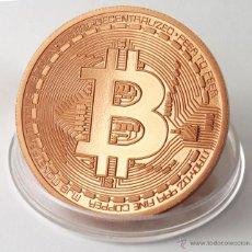 Reproducciones billetes y monedas: BITCOIN COPPER DIGITAL CURRENCY 1 OUNCE COBRE. Lote 52533653