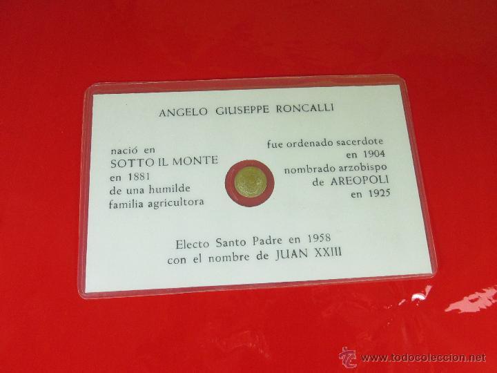 Reproducciones billetes y monedas: *TARJETA CONMEMORATIVA-JUAN XXIII-MONEDA INTERIOR-NUEVA-COLECCIONISMO-VER FOTOS. - Foto 3 - 52778719