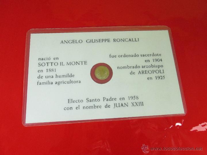 Reproducciones billetes y monedas: *TARJETA CONMEMORATIVA-JUAN XXIII-MONEDA INTERIOR-NUEVA-COLECCIONISMO-VER FOTOS. - Foto 5 - 52778719