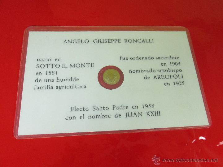 Reproducciones billetes y monedas: *TARJETA CONMEMORATIVA-JUAN XXIII-MONEDA INTERIOR-NUEVA-COLECCIONISMO-VER FOTOS. - Foto 6 - 52778719