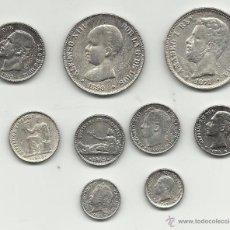 Reproducciones billetes y monedas: RARO LOTE DE REPRODUCCIONES DE MONEDAS ALFONSINAS Y DE AMADEO. Lote 52821760