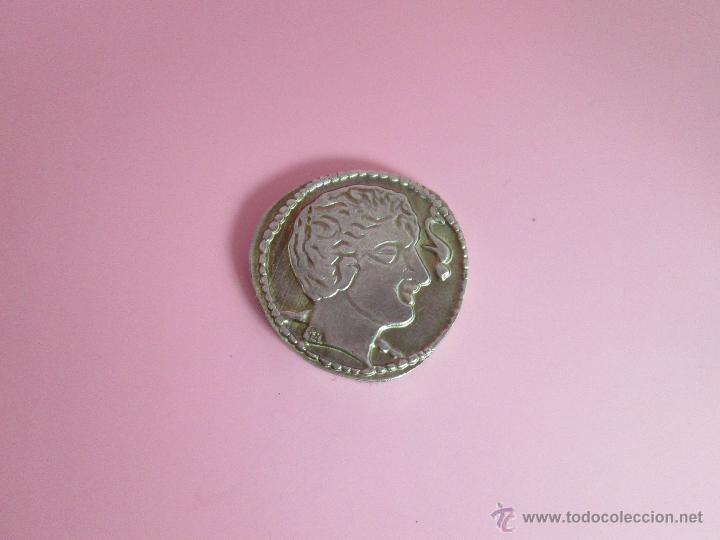 Reproducciones billetes y monedas: MONEDA COLECCIÓN(reproducción)-PLATA(¿BAÑO DE PLATA?)-ARAGÓN-SIN DATAR-3,74-17 MM.D--. - Foto 3 - 39512938