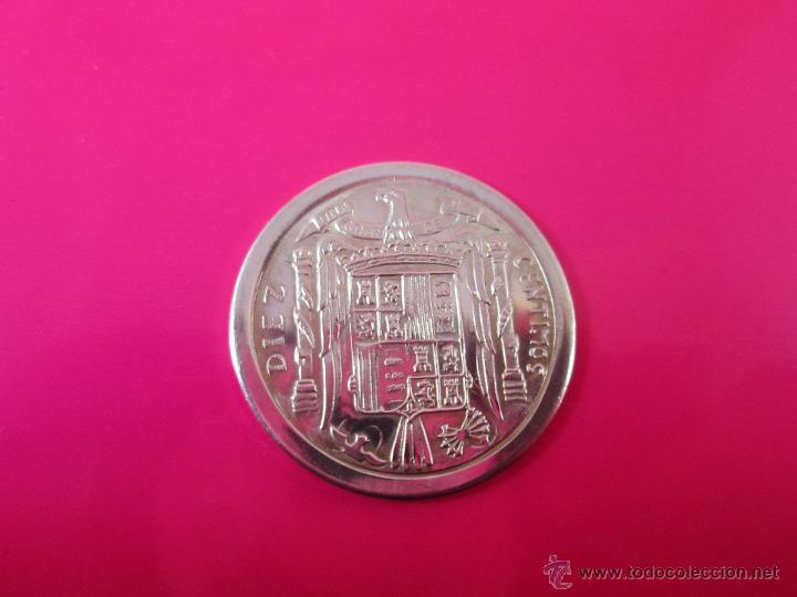 Reproducciones billetes y monedas: AªMONEDA PLATA(¿BAÑO DE PLATA?)-10 CTS-1953-PATACÓN-23 MM.D-3,82 GRS-. - Foto 2 - 39360005