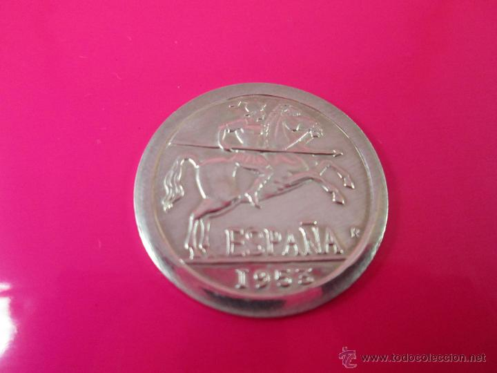 Reproducciones billetes y monedas: AªMONEDA PLATA(¿BAÑO DE PLATA?)-10 CTS-1953-PATACÓN-23 MM.D-3,82 GRS-. - Foto 3 - 39360005