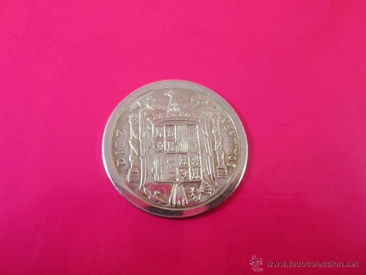 Reproducciones billetes y monedas: AªMONEDA PLATA(¿BAÑO DE PLATA?)-10 CTS-1953-PATACÓN-23 MM.D-3,82 GRS-. - Foto 5 - 39360005