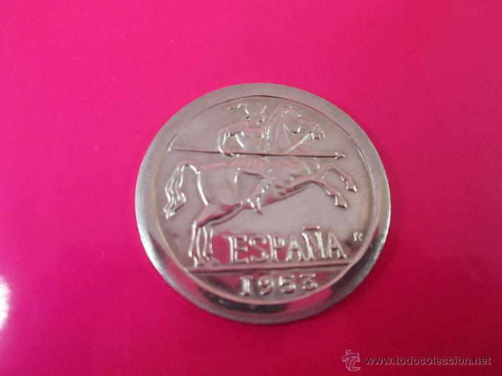 Reproducciones billetes y monedas: AªMONEDA PLATA(¿BAÑO DE PLATA?)-10 CTS-1953-PATACÓN-23 MM.D-3,82 GRS-. - Foto 6 - 39360005