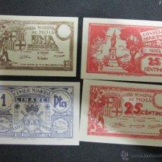 Reproducciones billetes y monedas: 4 REPRODUCCIONES BILLETES LOCALES. Lote 53107493