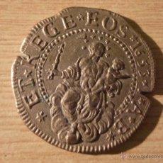 Reproducciones billetes y monedas: MONEDA LE TRESOR DES PIRATES TESORO PIRATAS GENES 5 DOPPIA 1655 COLLECTION BP 8 METALICA 4 CM. Lote 53400727