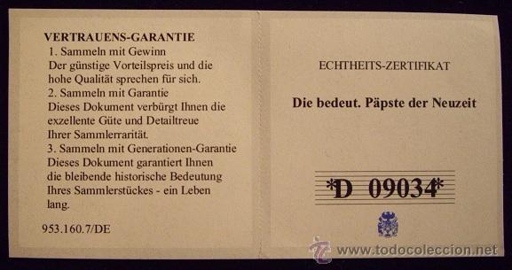Reproducciones billetes y monedas: VATICANO. MEDALLA BENEDICTO XVI. ESMALTADA 2005 - Foto 5 - 50611607
