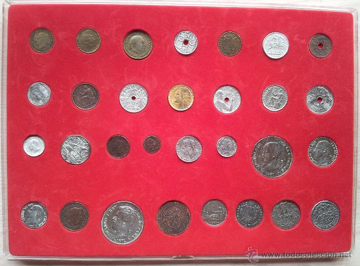 Reproducciones billetes y monedas: HISTORIA DE LA PESETA - COLECCCION DE 30 MONEDAS (COMPLETO) - EL SUR - Foto 2 - 54292407